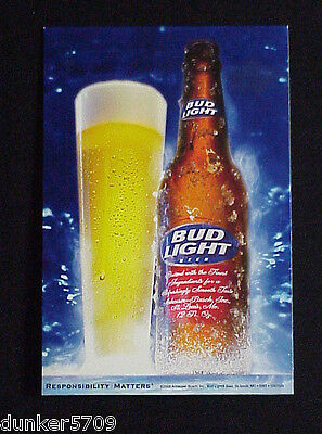 $ CDN5.22 • Buy 2008 Budweiser Bud Light Beer Cardboard Table Placecard 6  Flattened Never Used