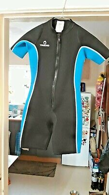 Boys Short  Black-blue Diving Suit  - Used Once-  Age 12 -excellent Condition • 4.99£