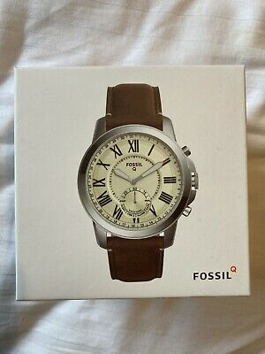 View Details Fossil Q Grant Hybrid Smartwatch Grant Dark Brown Leather Boxed • 32.00£