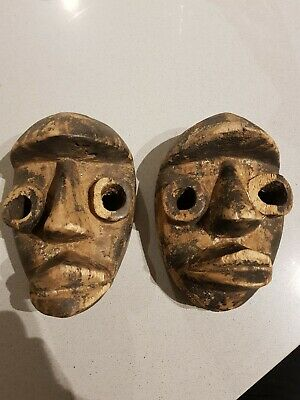 African Style Carved Wooden Mask • 4.99£