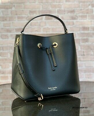 $ CDN165.17 • Buy KATE SPADE EVA LARGE LEATHER BUCKET CROSSBODY SHOULDER BAG SATCHEL $379 Black