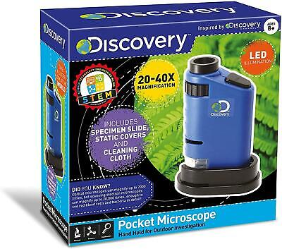 £9.99 • Buy Discovery - POCKET MICROSCOPE - 20-40x Magnification - NEW