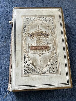 Byron Moxon's Poets The Poetical Works Of Lord Byron Gilt Edge Old Book • 3£