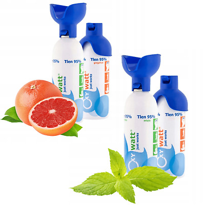 Inhalation Oxygen Can Canned O2 95% Flavoured Grapefruit Mint 5L Energy Boost UK • 9.10£