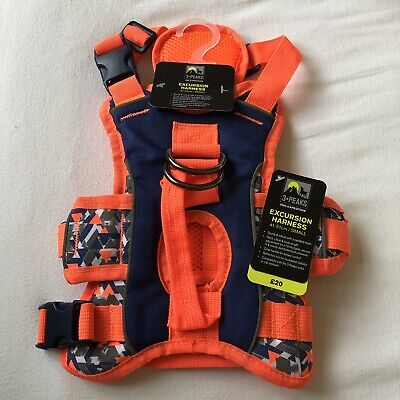 Pets At Home 3•PEAKS EXCURSION HARNESS Small Orange Multi Reflective Cost £20 ! • 5.50£