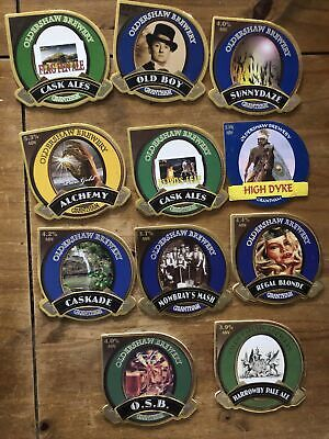 11 Oldershaw Brewery. Beer Pump Clips (Fronts Only) • 1.99£