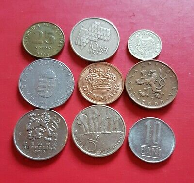 9 Mixed Foreign Coins  • 0.99£