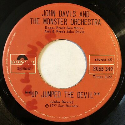 """John Davis And The Monster Orchestra - Up Jumped The Devil 7"""" Polydor Disco Funk • 0.99£"""