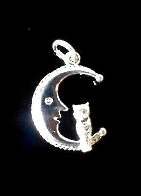 Stirling Silver Moon & Owl Charm / Pendant  • 4.30£