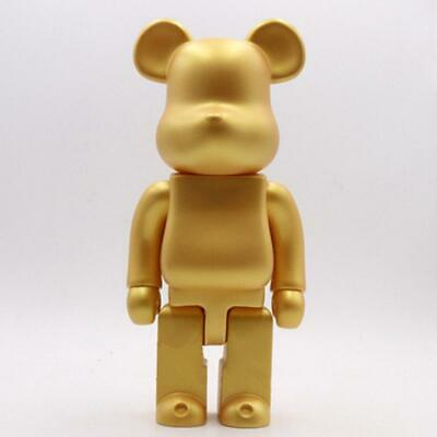 $109.99 • Buy RARE Medicom Bearbrick Gold 400% Be@rbrick Action Figures Toy - LIMITED EDITION