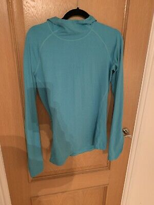 Gap Fit Turqoise Light Blue Hoodie Running Top Long Sleeved M New Without Tags • 4.20£