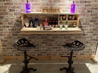 Wall Hung Drinks Bar. Christmas Gift. Personalised. Inside Or Outside Drinks Bar • 130£