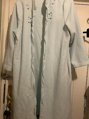 Ladies Size 12 - 14 M&s Aqua Short Zip Front Dressing Gown  • 0.99£