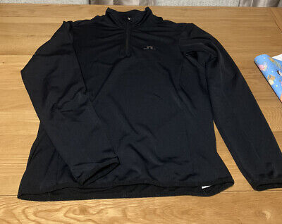 J Lindeberg Golf Mid Layer, Size Large In Black • 29.99£