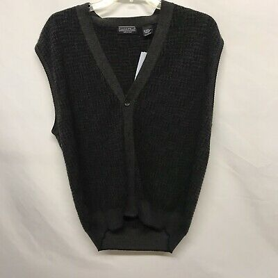 $12.99 • Buy Preswick & Moore 30% Merino Wool Knitted Button Up Sweater Vest Men Size Large