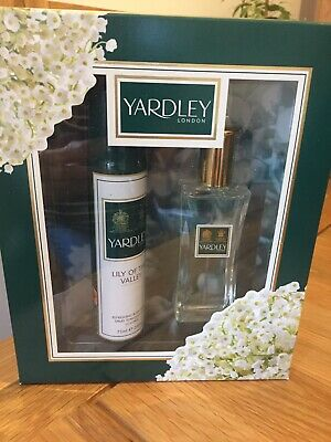 Yardley Lily Of The Valley Gift Set 50ml Eau De Toilette Body Spray New Boxed • 4.50£