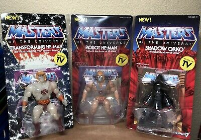 $59.99 • Buy Super 7 Masters Of The Universe Transforming, Robot He-Man,Shadow Orko Lot Of 3