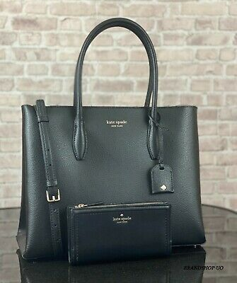 $ CDN215.99 • Buy Kate Spade Eva Leather Medium Satchel Crossbody Bag Handbag Tote Wallet Set