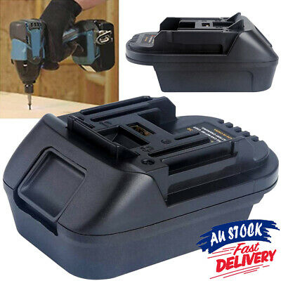 AU20.29 • Buy Convert Adapter Milwaukee 18V Battery Adapter Compatible With Makita Tools