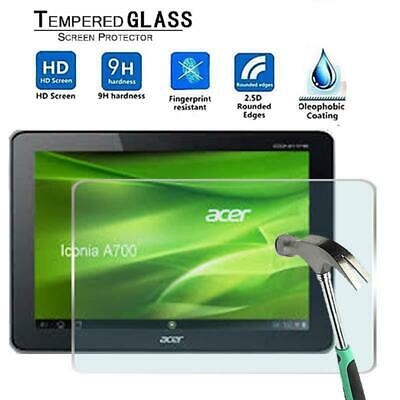 Tablet Tempered Glass Screen Protector For Acer Iconia Tab A700 10.1 Inch • 5.99£
