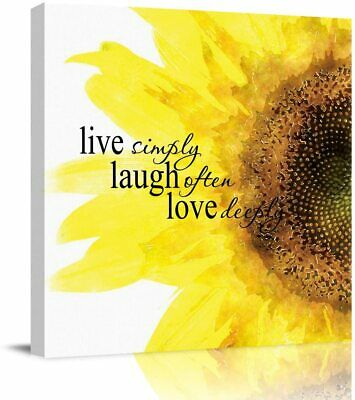 Wall Decor Home Art Canvas Paintings Quote Live Simply Laugh Often Love Deeply • 16.56£