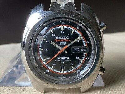 $ CDN111.59 • Buy Vintage SEIKO Automatic Watch/ SEIKO 5 SPORTS Speed Timer 7017-8000 SS 21J 1970