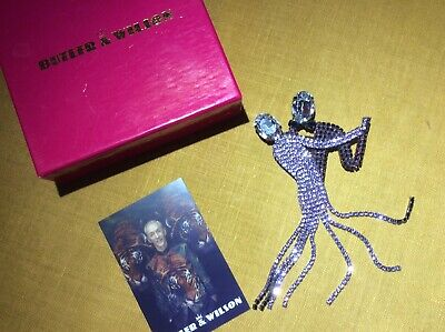 Butler & Wilson Brooch Dancing Couple 50 Year Anniversary Mint Condition • 35£