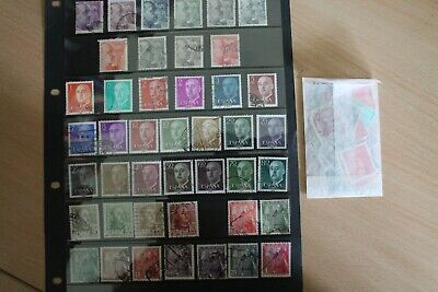 NICE LOT OF 43 SPANISH STAMPS. GENERAL FRANCO. And 50+ To Check For Shades. • 0.99£