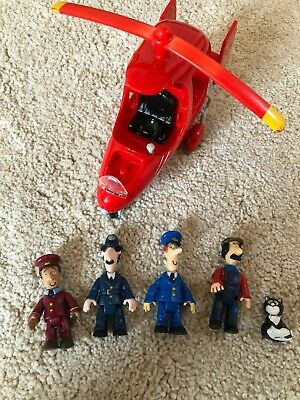 Postman Pat Helicopter And Figures Bundle • 0.99£
