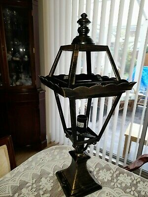 Victorian Outside Garden Patio Pathway Street Light 1/2/3 Lamp Post Black Lights • 9£