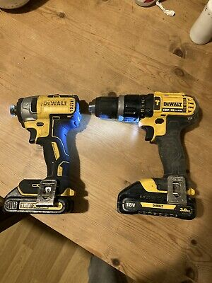 Dewalt 18v Combi Drill And Impact Driver And Batteries • 59£