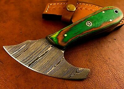 £64.42 • Buy Custom Damascus Steel Leather Cutting Knife-Pattern Knife-Cutter -Tool-LC367