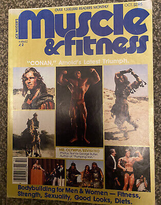 Muscle & Fitness October 1981 Arnold Schwarzenegger Conan • 9.99£