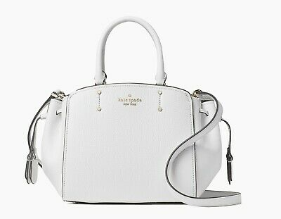 $ CDN153.10 • Buy KATE SPADE LEATHER TEGAN MEDIUM SATCHEL SHOULDER CROSSBODY BAG PURSE $359 White