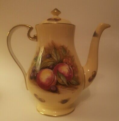 Aynsley Coffee Pot Orchard Gold Pattern. • 12.51£