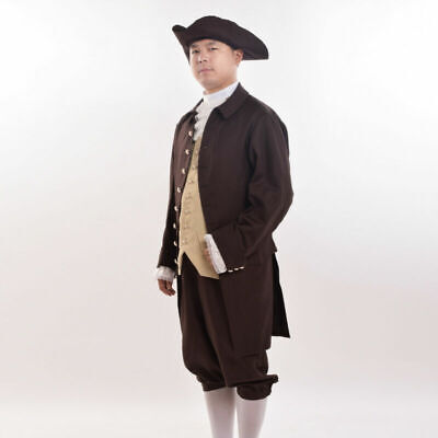 $58.64 • Buy Rococo Mens Colonial Revolution Costume Medieval Outfits Cosplay Suits