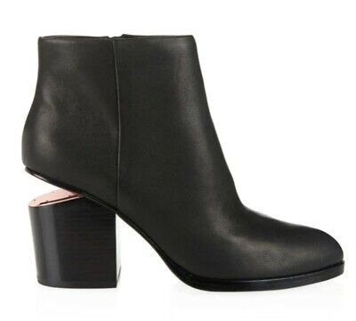 AU99 • Buy Alexander Wang Gabi Ankle Boot Black Rose Gold Size 35.5, Preowned