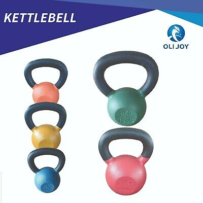 AU40 • Buy Cast Iron Kettlebell Powder Coating Weight Lifting Dumbbell Home Gym Fitness
