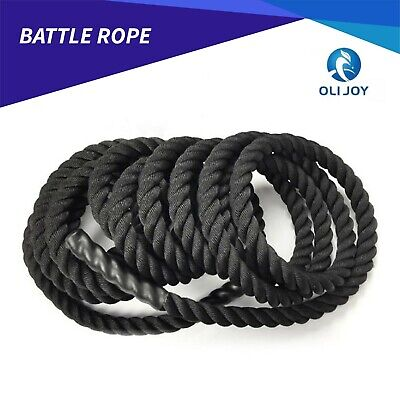 AU59 • Buy 9m/12m/15m GYM Home Battle Rope Strength Training Exercise Workout Battling 38mm