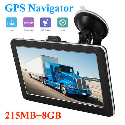 AU91.85 • Buy Car GPS Navigator 7 Inch Touch Screen Sat Nav 8GB ROM Free Map 30 Languages