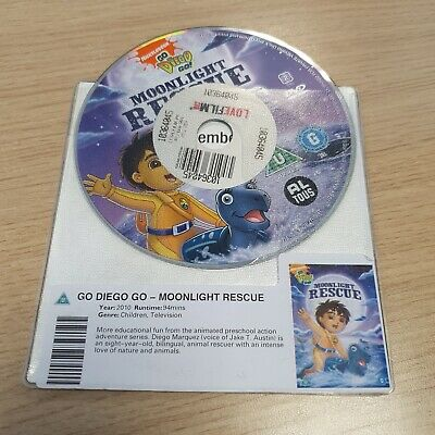 DISC ONLY  - Go Diego Go - Moonlight Rescue DVD  • 1.80£