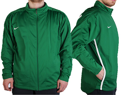 Nike Mens Poly Tracksuit Top Gym Running Sports Track Zip Jacket  Green • 14.99£