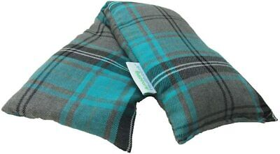 £8.35 • Buy Heat Pack Cotton Tartan Microwave Wheat Bag 46cm Long (Unscented, Turquoise)