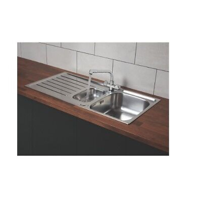 Franke Reno / Danube Stainless Steel Inset Sink & Mixer Tap 1.5 Bowl 1000 X 500a • 134.99£