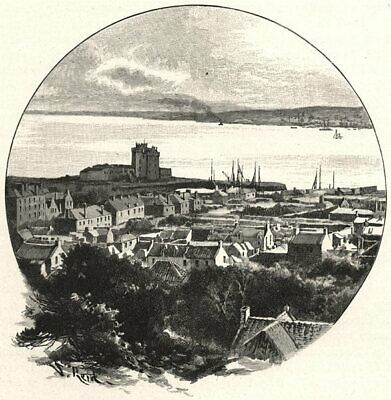 SCOTLAND. Dundee, From Broughty Ferry 1901 Old Antique Vintage Print Picture • 11.99£