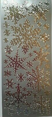 £2.25 • Buy Christmas Silver Snowflake Peel Off Stickers Assorted Sizes Cards Gifts Labels