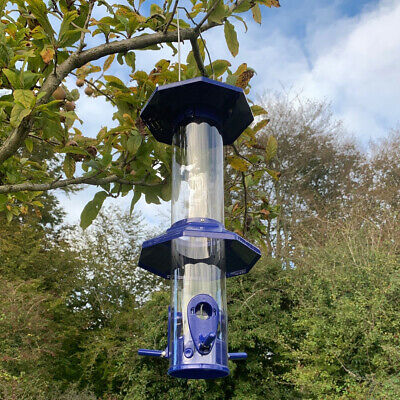 £21.99 • Buy Squirrel Proof Hanging Bird Seed Feeder With Flexible Perches And Baffles