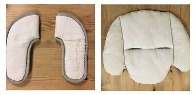 Mothercare My3/My4 Pushchair Replacement Chest Shoulder Pads + Head Rest - Beige • 0.99£