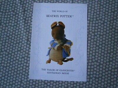 Beatrix Potter Knitting Pattern  Gentleman Mouse • 12£