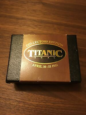 Rms Titanic Collectors Edition Coal Artifact.white Star Line. With Certificate. • 65£